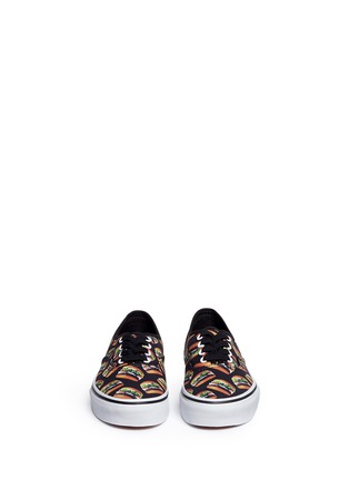 Figure View - Click To Enlarge - Vans - 'Authentic Late Night' hamburger print canvas kids sneakers