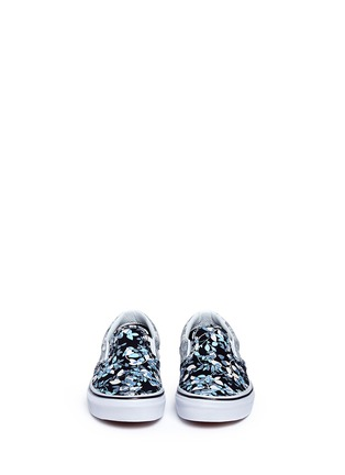 Figure View - Click To Enlarge - Vans - 'Classic' reverse floral print kids slip-ons