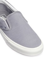 'Classic' braided suede slip-ons