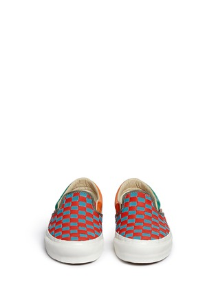 Front View - Click To Enlarge - Vans - 'OG Classic LX' woven check leather slip-ons
