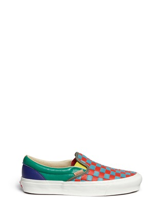 Main View - Click To Enlarge - Vans - 'OG Classic LX' woven check leather slip-ons