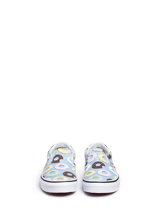 Figure View - Click To Enlarge - Vans - 'Classic Late Night' donut print kids slip-ons