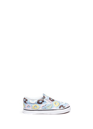 Main View - Click To Enlarge - Vans - 'Classic Late Night' donut print canvas toddler slip-ons