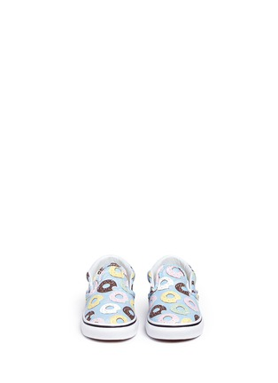 Figure View - Click To Enlarge - Vans - 'Classic Late Night' donut print canvas toddler slip-ons