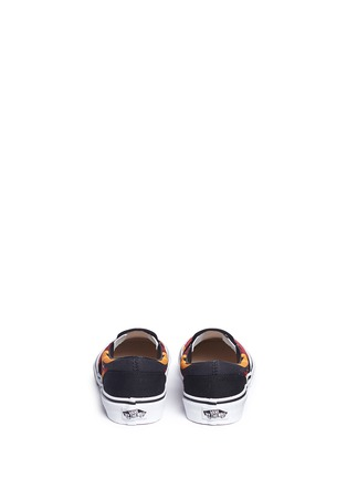 Back View - Click To Enlarge - Vans - 'Flame Classic' canvas kids slip-ons
