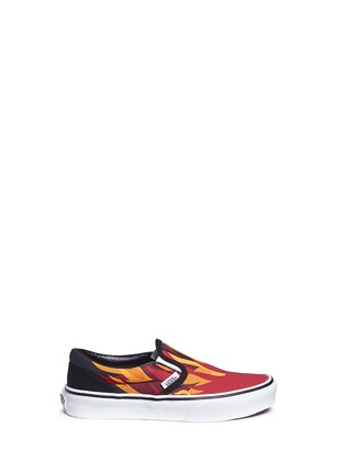 Main View - Click To Enlarge - Vans - 'Flame Classic' canvas kids slip-ons