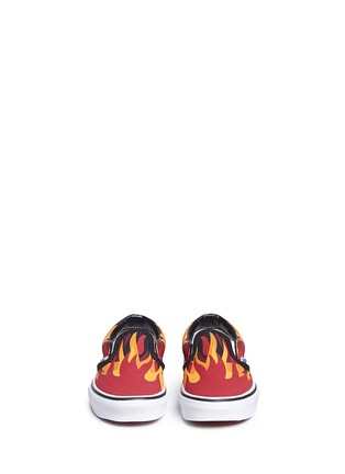 Figure View - Click To Enlarge - Vans - 'Flame Classic' canvas kids slip-ons