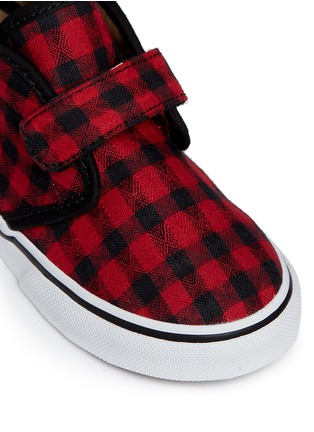Detail View - Click To Enlarge - Vans - 'Chukka V' gingham twill toddler shoes