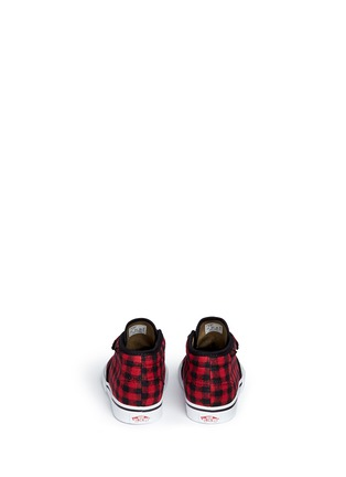 Back View - Click To Enlarge - Vans - 'Chukka V' gingham twill toddler shoes