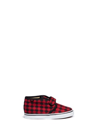 Main View - Click To Enlarge - Vans - 'Chukka V' gingham twill toddler shoes