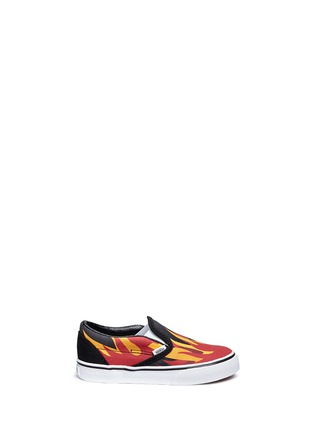 Main View - Click To Enlarge - Vans - 'Flame Classic' canvas toddler slip-ons