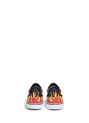 Figure View - Click To Enlarge - Vans - 'Flame Classic' canvas toddler slip-ons
