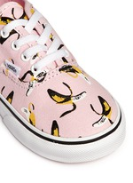 'Authentic Banana' print canvas toddler sneakers