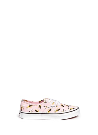 Main View - Click To Enlarge - Vans - 'Authentic Banana' print canvas kids sneakers