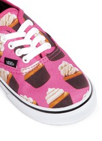 'Authentic Late Night' cupcake print canvas toddler sneakers