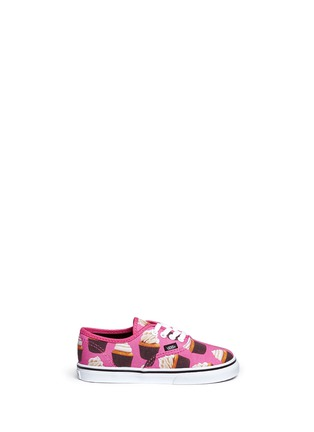 Main View - Click To Enlarge - Vans - 'Authentic Late Night' cupcake print canvas toddler sneakers