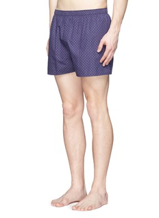 Sunspel'Dot Leaf' print cotton boxer shorts