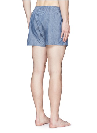 Back View - Click To Enlarge - Sunspel - Honeycomb dobby boxer shorts