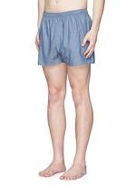 Honeycomb dobby boxer shorts