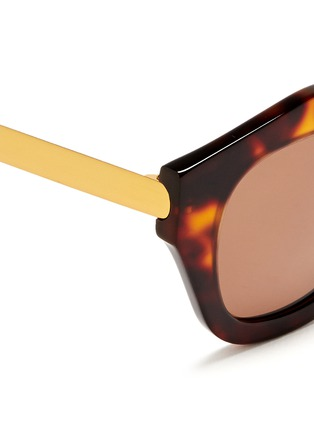 Detail View - Click To Enlarge - Spektre - 'Mon Amour' tortoiseshell acetate angular sunglasses