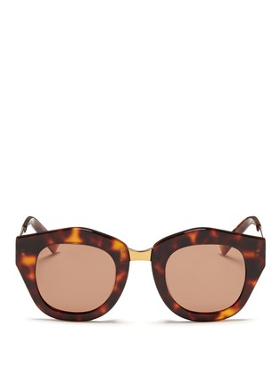 Spektre-'Mon Amour' tortoiseshell acetate angular sunglasses