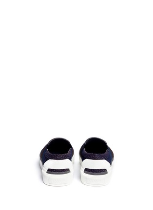 背面 - 点击放大 - LANVIN - 网状拼贴反毛牛皮厚底便鞋