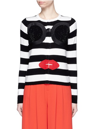 Main View - Click To Enlarge - alice + olivia - Stace Face stripe cardigan
