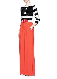 ALICE + OLIVIAStace Face stripe cardigan