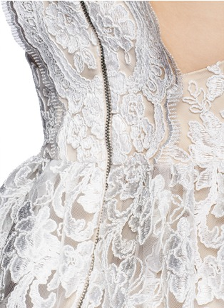 Detail View - Click To Enlarge - alice + olivia - 'Ladonna' floral embroidery racerback party dress