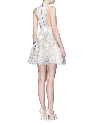 Figure View - Click To Enlarge - alice + olivia - 'Ladonna' floral embroidery racerback party dress