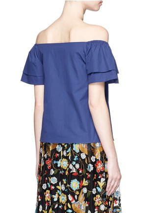 alice + olivia - 'Loryn' off-shoulder ruffle sleeve top