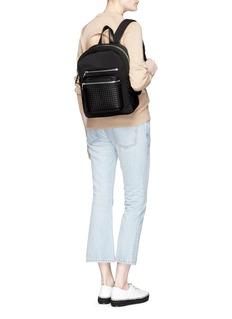 ASH'Neema' embossed leather neoprene small backpack