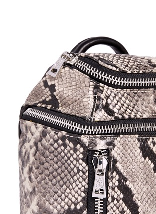 Detail View - Click To Enlarge - Ash - 'Harper' mini snake embossed leather backpack