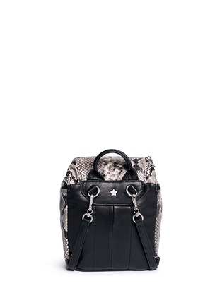 Back View - Click To Enlarge - Ash - 'Harper' mini snake embossed leather backpack