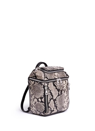 Front View - Click To Enlarge - Ash - 'Harper' mini snake embossed leather backpack