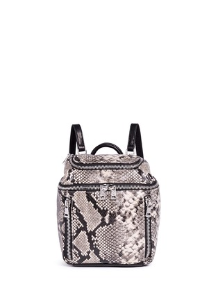 Main View - Click To Enlarge - Ash - 'Harper' mini snake embossed leather backpack