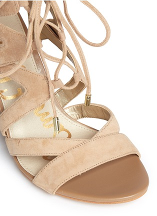 Detail View - Click To Enlarge - Sam Edelman - 'Yardley' caged suede sandals