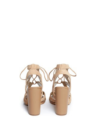 Back View - Click To Enlarge - Sam Edelman - 'Yardley' caged suede sandals