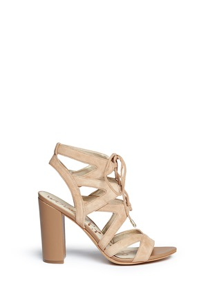 Main View - Click To Enlarge - Sam Edelman - 'Yardley' caged suede sandals