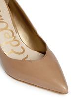 Orella' patent trim leather pumps