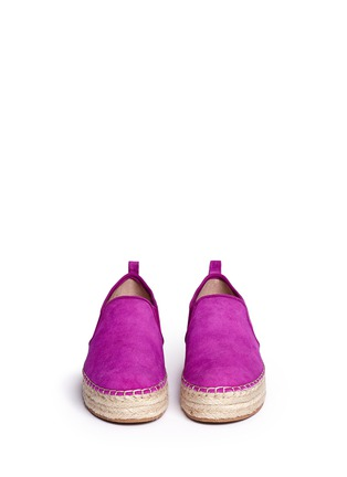 Front View - Click To Enlarge - Sam Edelman - 'Carrin' suede flatform espadrilles
