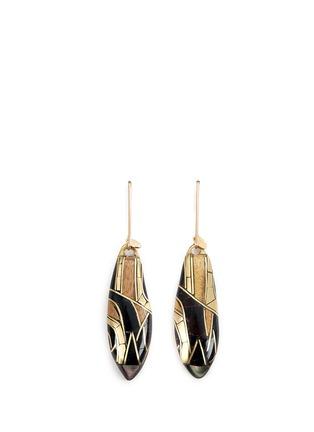 Main View - Click To Enlarge - Niin - 'Umbra' hook pendant earrings