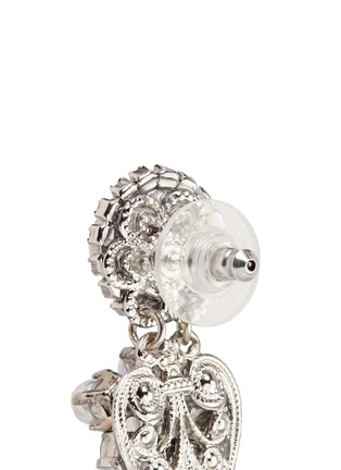 Erickson Beamon - 'I Do' Swarovski crystal glass pearl drop earrings