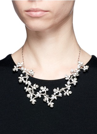 Figure View - Click To Enlarge - Erickson Beamon - 'I Do' Swarovski crystal glass pearl branch necklace
