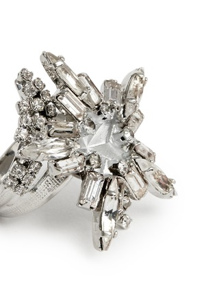 Detail View - Click To Enlarge - Erickson Beamon - 'Star Search' Swarovski crystal brass ring