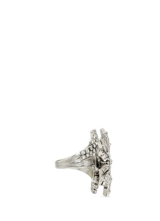 Figure View - Click To Enlarge - Erickson Beamon - 'Star Search' Swarovski crystal brass ring