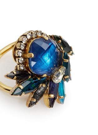 Detail View - Click To Enlarge - Erickson Beamon - 'St. Moritz' 24k gold plated Swarovski crystal ring