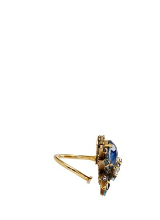 Figure View - Click To Enlarge - Erickson Beamon - 'St. Moritz' 24k gold plated Swarovski crystal ring