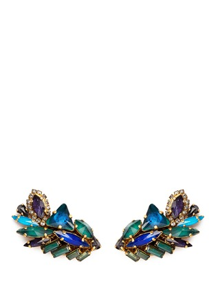 Main View - Click To Enlarge - Erickson Beamon - 'St. Moritz' Swarovski crystal 24k gold plated earrings