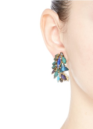 Figure View - Click To Enlarge - Erickson Beamon - 'St. Moritz' Swarovski crystal 24k gold plated earrings